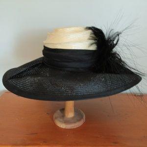 Black and White HatHeads Church Derby Wedding Hat
